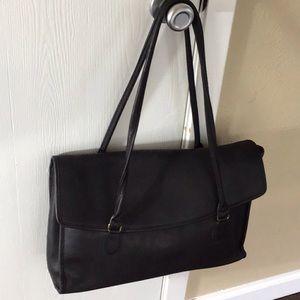 RARE. Vintage Coach Leather Flap Over Bag